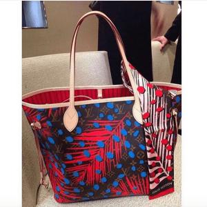 Louis-Vuitton-Palm-PoppyDenim-Monogram-Palm-Dots-Neverfull-Bag-300x300