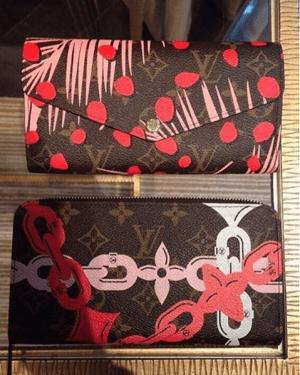 Louis-Vuitton-Palm-Sugar-PinCoquelicot-Monogram-Palm-Dots-Sarah-Wallet-300x375
