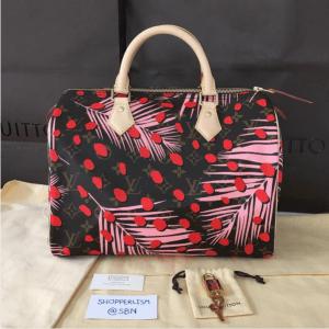 Louis-Vuitton-Palm-Sugar-PinCoquelicot-Monogram-Palm-Dots-Speedy-30-Bag-2-300x300