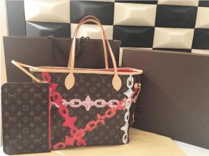 Louis-Vuitton-PoppyRose-Ballerine-Monogram-Bay-Neverfull-MM-Bag-300x224
