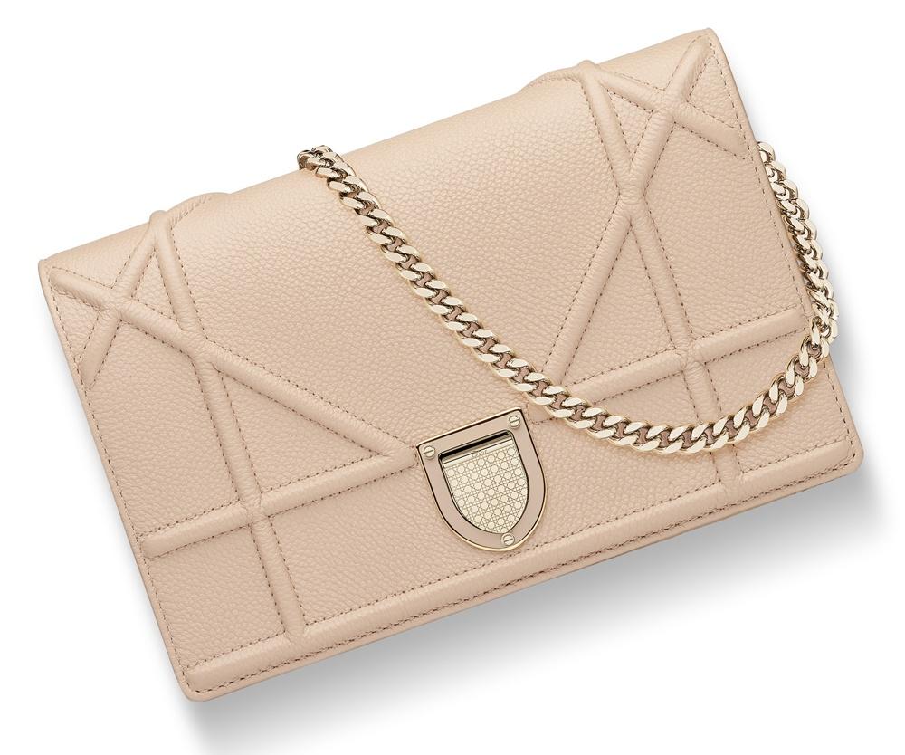 Christian-Dior-Diorama-Chain-Wallet-Beige