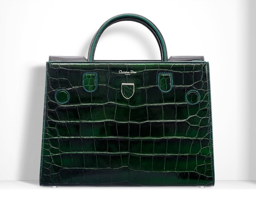 Christian-Dior-Diorever-Alligator-Tote-Green