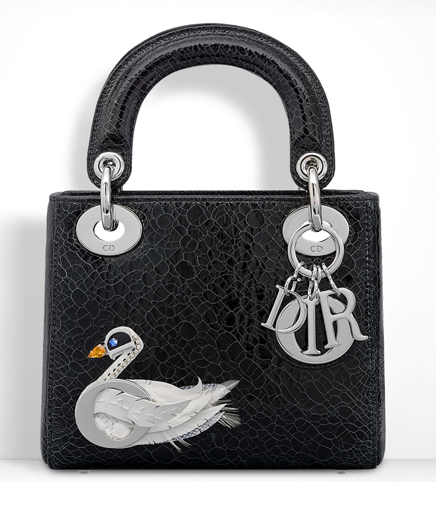 Christian-Dior-Mini-Lady-Dior-Bag-Black-Swan