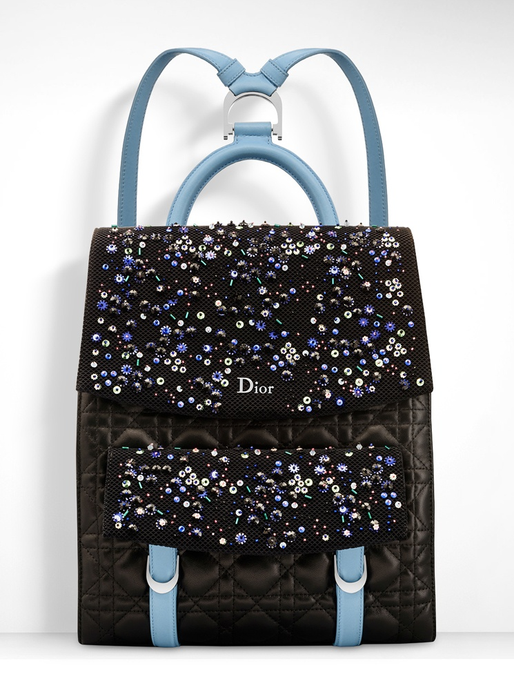 Christian-Dior-Stardust-Backpack-Black-Blue