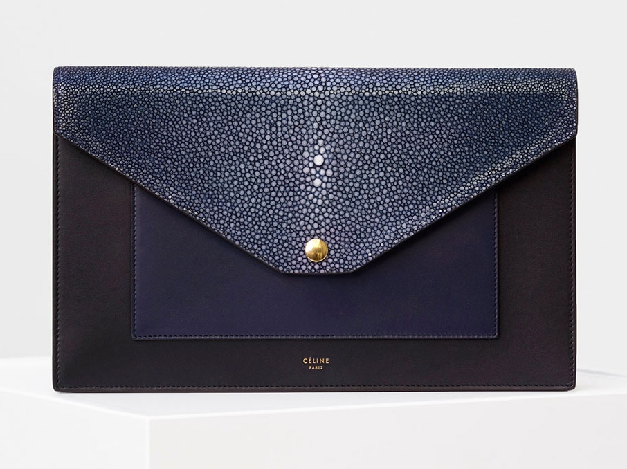 Celine-Pocket-Clutch-on-a-Chain-Stingray-2200
