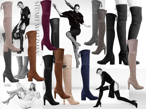 腿长1.8的技巧—Stuart Weitzman过膝靴选购指南和各型号对比