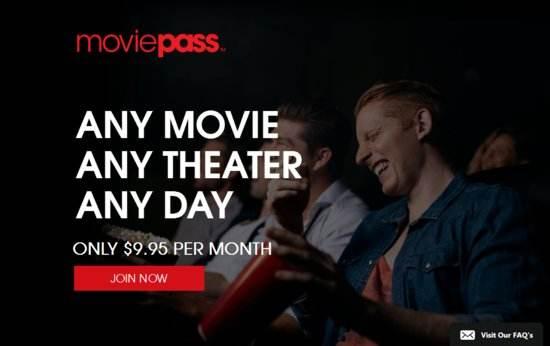 Movie Pass月费不到十美元,天天让你进影院看电影,来不?